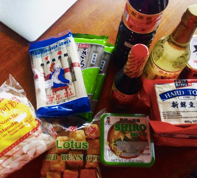Vegan goodies from Asian supermarket